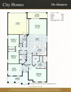 Wndermere Terrace City Homes Hampton Floor Plan in Windermere FL