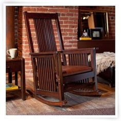 Belham Living Province Mission Rocker - Walnut