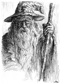 Gandalf by *weremoon on deviantART