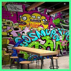 beibehang Impresionante personalized graffiti 3D Wallpaper inkjet Bar KTV decorative painting TV wall background wallpaper