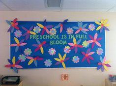 Preschool is in Full Bloom! - Spring Bulletin Board