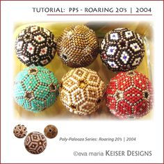 Roaring 20's Beaded Bead e-Pattern  Link:  http://keiserdesigns.com/KDC_Learn.htm