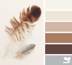 Feathered tones. Such a warm and cosy pallet for a home