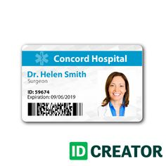 Community Helpers Id Card Template Templates Cards Badge Health