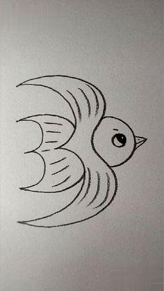 Art Drawings Sketches Simple, Easy Drawings For Kids, Pencil Art Drawings, Cute Drawings, Animal Drawings, Pencil Sketches Easy, Doodle Art For Beginners, Easy Drawings For Beginners, Arte Do Kawaii