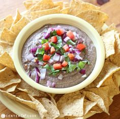 Black Bean Hummus: Middle East meets Southwest in this simple, versatile black bean hummus that comes together in just minutes. Use it as a dip or as part of a seven layer appetizer. Spread it on burritos, tostadas and nachos. Or use it to top off a salad or baked potato!