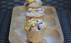 Blåbærmuffins med vaniljekrem – Karoline Marberg Cereal, Dairy, Cheese, Breakfast, Cake, Food, Morning Coffee, Kuchen, Essen