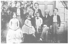 John and Candia Cadbury and their family in 1847.