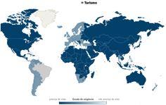 Lista dos países que exigem visto!