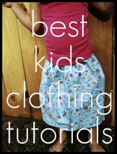 almost 300 awesome kids sewing tutorials from around the web, compiled by this blogger.