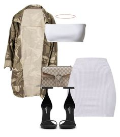 """""""Untitled #1800"""" by sadgirllmaya ❤ liked on Polyvore featuring Gucci, Balmain, Yves Saint Laurent and Anne Sisteron"""