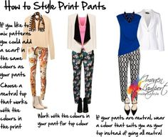 How to style print pants http://www.insideoutstyleblog.com/2014/03/what-to-wear-with-printed-pants.html