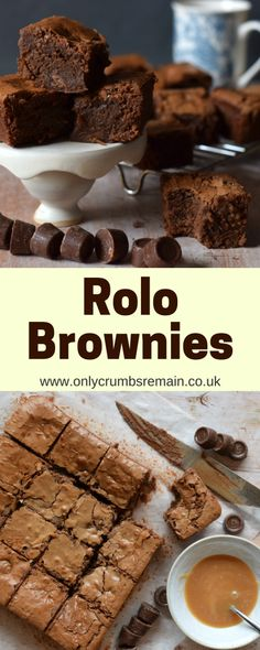 These chocolate brownies are perfect for Valentine's Day having rolos prodded into the batter. Though in reality this tray bake is perfect at anytime of year. Bake Sale Recipes, Tray Bake Recipes, Cake Recipes, Dessert Recipes, Rolo Brownies, Chocolate Brownies, Brownie Desserts, Brownie Recipes, Cake Tray