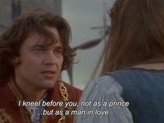 Prince Henry (played by Dougray Scott) makes amends to Danielle (played by Drew Barrymore)