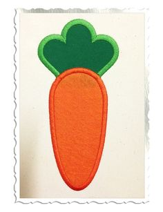 $2.95Applique Carrot Machine Embroidery Design
