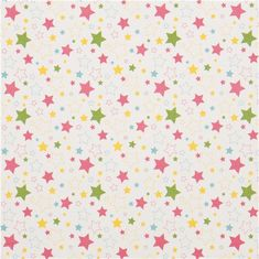 white Riley Blake star fabric from the USA pink-green
