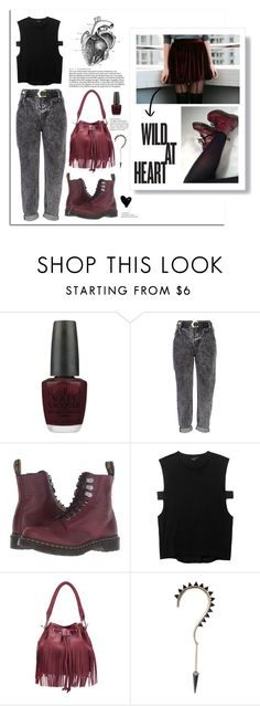 """Under the pressure is where we are."" by lolapastel ❤ liked on Polyvore featuring OPI, River Island, Dr. Martens, Theyskens' Theory and nowplaying"