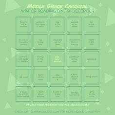Winter Reading Bingo Card for December 2020 | #bookbingo #amreading #middlegrade #mgreads #ireadMG #kidlit