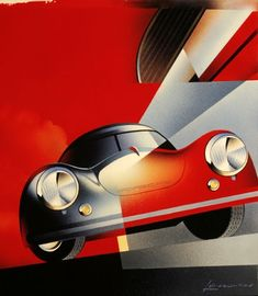 Cars Collection, Cars Porsche, Vintage Poster, Racing Poster, Art Poster, Art Deco Car, Porsche Poster