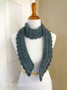 Ocean Air Scarf - Get The Free Crochet Pattern here: http://www.fiberfluxblog.com/2013/04/free-crochet-patternocean-air-scarf.html