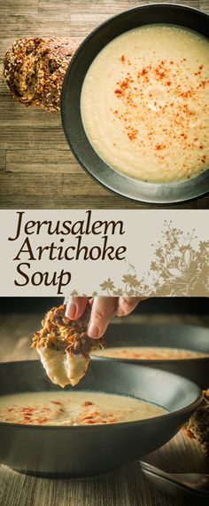 Jerusalem Artichoke Soup Recipe: Jerusalem artichoke soup or Sunchoke Soup is a wonderfully nutty creamy winter warmer from a wonderful but underused vegetable.