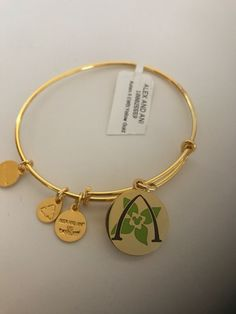Disney Hawaii Aulani Resort Mickey Alex Ani Gold Finish Bracelet New with Tag