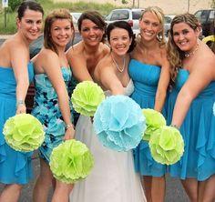 MyHaleyGirl.com paper doily wedding bouquets!