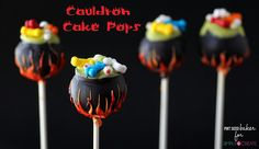 Give those little witches a cauldron they can cackle over! These fun Cauldron Cake Pops will be the hit of your Halloween Party. Homemade Halloween Treats, Halloween Baking, Easy Halloween, Halloween Party, Halloween Recipe, Halloween Projects, Halloween Foods, Halloween Desserts, Halloween Activities