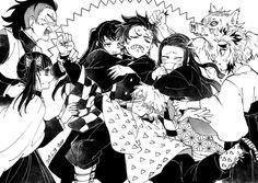 Tanjirou no Harem Manga Anime, Fanarts Anime, Anime Characters, Anime Art, Anime Angel, Anime Demon, Slayer Meme, Familia Anime, Demon Hunter