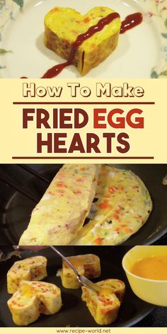 How To Make Fried Egg Hearts Good Food, Yummy Food, Delicious Recipes, Fried Pickles Recipe, Fried Chicken Recipes, Best Food Ever, Fries In The Oven, How To Cook Eggs, Best Appetizers