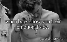 when boys show their emotions
