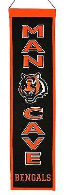 """Cincinnati Bengals Winning Streak Man Cave Wool Banner (8""""x32"""")"""