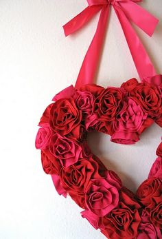 15+ Valentine's Day Wreaths!  Make great wreaths with the help of gorgeous silk florals from Old Time Pottery!  www.oldtimepottery.com