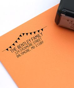 Celebration Banner Personalized Self-Inking Stamp