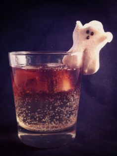 The Dark & Stormy Night - Halloween mixed drink