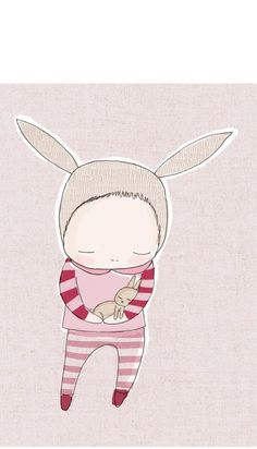 Image of Children Decor - Bunny Rabbit Holding Baby Bunny - Onesie - Pink and Red Baby Wall Art, Art Wall Kids, Nursery Wall Art, Girl Nursery, Baby Art, Nursery Ideas, Holding Baby, Baby Bunnies, Baby Prints