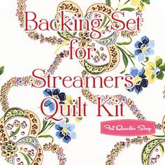 Backing Set for Streamers Quilt yards of SKU# Red Rooster, Fat Quarter Shop, Streamers, Yards, Applique, Quilting Fabric, Quilts, Kit, Red Roaster