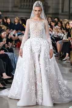 Speed Dating - Wedding Dresses & Gowns 2017 / Hobeika couture wedding gown: www. Floral Wedding Gown, Couture Wedding Gowns, Haute Couture Dresses, Dream Wedding Dresses, Bridal Gowns, Couture Fashion, Gowns 2017, Dress Vestidos, Ball Gowns