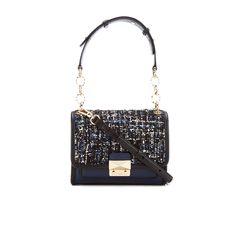 3673b8ada5d6 Karl Lagerfeld Women s K Kuilted Tweed Mini Handbag - Midnight Blue