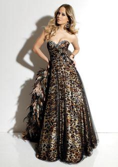 be10ddbd75 animal print prom dress. Animal Print Wedding