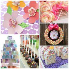 Pink Party Ideas, DIY Lollipop Centerpiece, and Candy Party Ideas Birthday Candy, 4th Birthday Parties, Elsa Birthday, Birthday Ideas, Candy Theme, Candy Party, Sweet 16 Parties, Pink Parties, Kids Party Themes