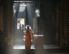 Devotee at the Meenakshi Temple, Madurai