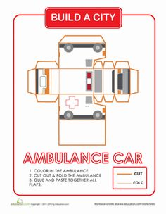 Every city needs an ambulance! Share a fun paper project with your child building and coloring a city of your very own with this series.