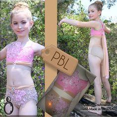 Pink & Tan Dance Costume Child Medium
