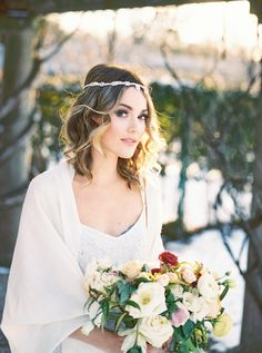 Dreamy winter wedding inspiration: http://www.stylemepretty.com/canada-weddings/ontario/cambridge-ontario/2016/05/16/youll-want-to-steal-this-sugar-plum-princess-look-pronto/ | Photography: Julia Park - http://juliapark.ca/