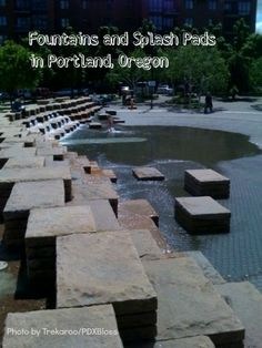 Guide to Splash pads and fountains in Portland, Oregon.  Kid's activities Portland.