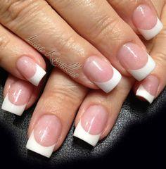 Sculpted pink and white gel enhancement. #pinkandwhites #frenchnails #gelnails #nailart #handpaintednails #naildesign #nails #lisakorallus #liquidglamour #nailpictures  #lisasaltiel #lisamariesaltiel