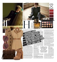 """""""#$uho:))"""" by shook-squad on Polyvore featuring Tattify, Lands' End, Dr. Martens, BCBGeneration, Salvatore Ferragamo, MAC Cosmetics and Burberry"""