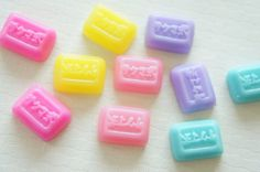 5 pcs Square Candy Cabochon (14mm18mm) CD383 on Etsy, £1.58