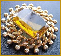 Your place to buy and sell all things handmade Old Jewelry, Vintage Jewelry, My Birthstone, Vintage Brooches, Precious Metals, Brooch Pin, Birthstones, Topaz, Amber